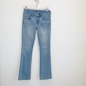 American Eagle Kick Boot Light Wash Jeans American